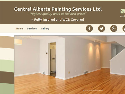 US Website Builder Central Alberta Painting Services Ltd.
