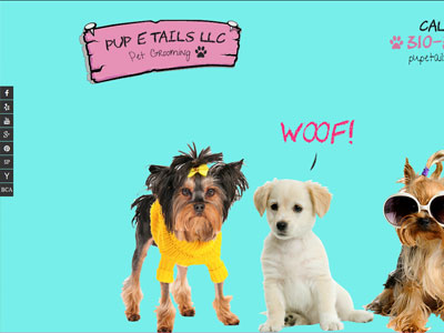 US Website Builder PUP E TAILS LLC Pet Grooming