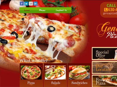 US Website Builder Genoa Pizza Ten